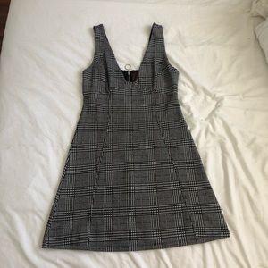 TOPSHOP Plaid Mini Dress